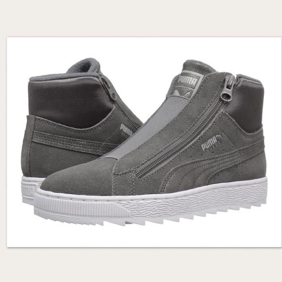 dc07b299f0e0ec Puma Suede Mid Winter Elemental Grey Sneakers. M 5afc942a05f4301a6eaaec6a